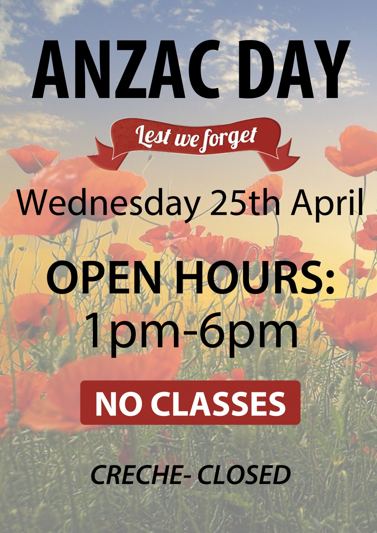 ANZAC DAY HOURS 2018 Charmy