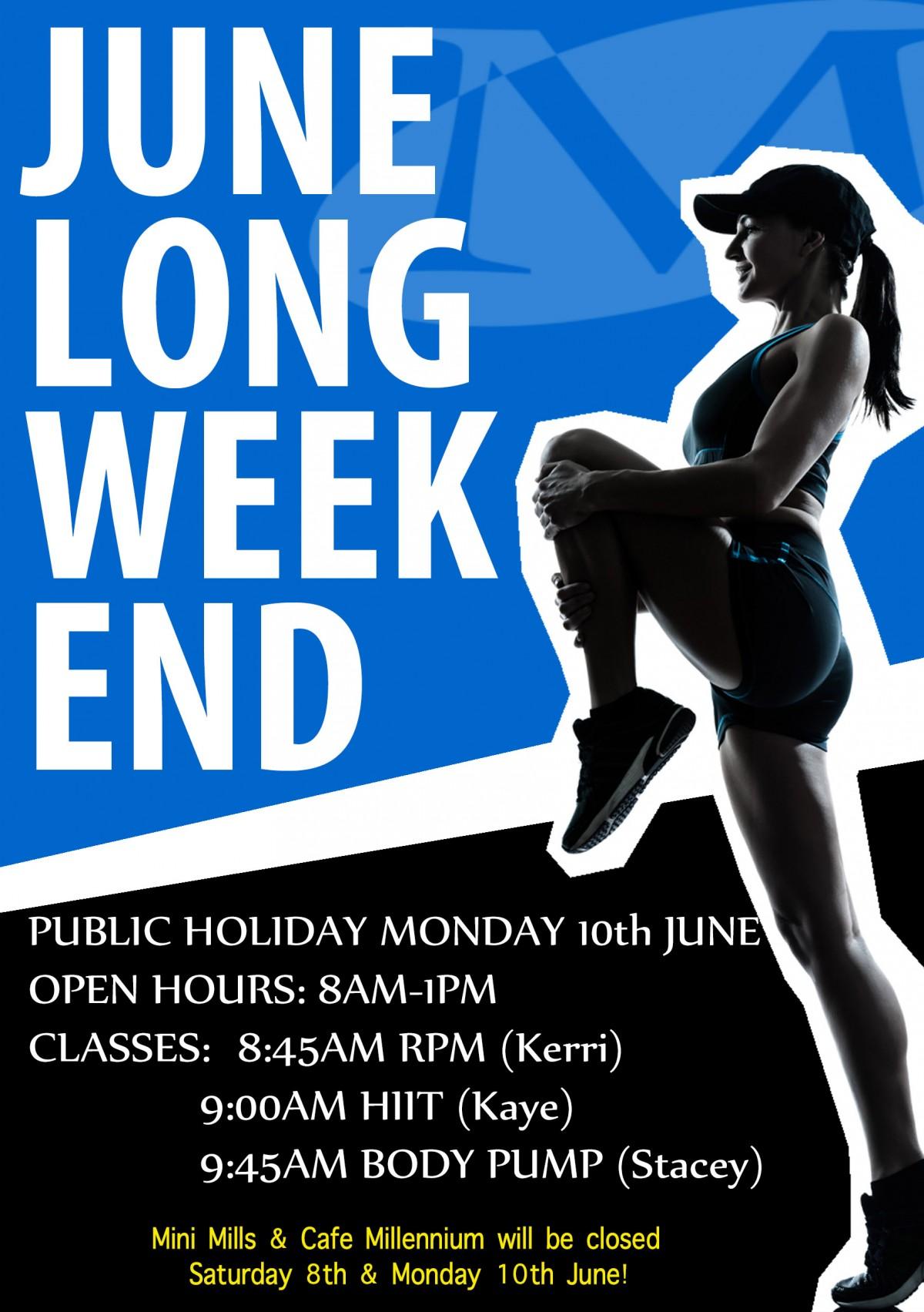 June Long Weekend Hours WAITARA 2019