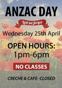 ANZAC DAY HOURS 2018
